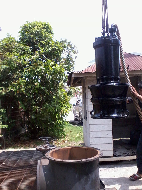 Installation of wastewater pumps-3